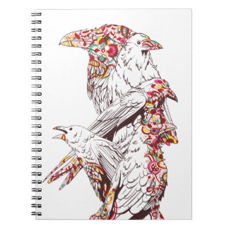 vintage cute parrots and animals spiral notebook