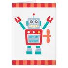 Vintage Cute Robot Toy Happy Birthday Card