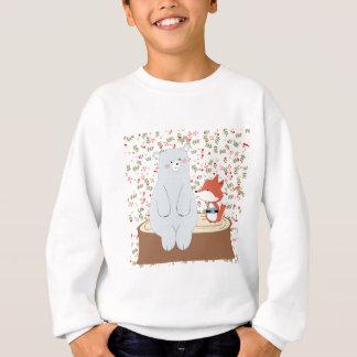 Vintage cute spring summer fox wolf and teddy bear sweatshirt