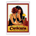 Vintage Cuticura Shampoo Ad Beautiful Woman in the Card
