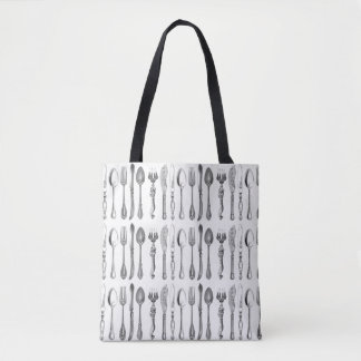 Vintage Cutlery All-Over-Print Tote Bag