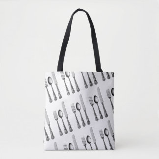 Vintage Cutlery Engraving All-Over-Print Tote Bag