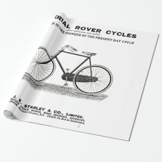 VINTAGE CYCLE ADVERT WRAPPING PAPER