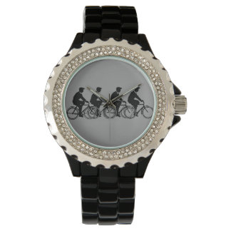Vintage Cycling Old Fashion Bicycles Cyclist Ride Watch