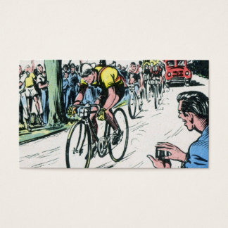 Vintage Cycling Print Business Card