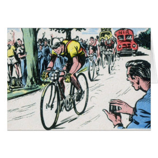 Vintage Cycling Print Card