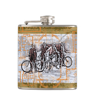Vintage Cyclists  Flask