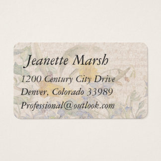Vintage Daffodil Narcissus Flowers Business Cards