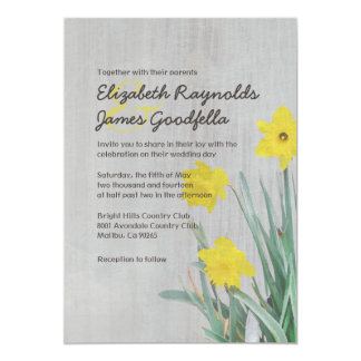 Vintage Daffodil Wedding Invitations