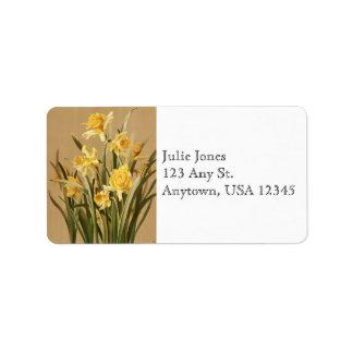 Vintage Daffodils Address Labels