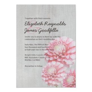 Vintage Dahlia Wedding Invitations