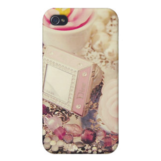 Vintage Dainty Flower Diamond Case iPhone 4 Cases