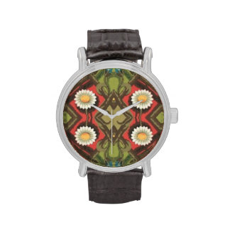 Vintage Daisy Floral Wristwatch