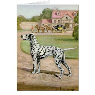 Vintage - Dalmatian Dog & Carriage, Card