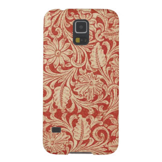 Vintage Damask Floral Red Samsung Galaxy Nexus Galaxy S5 Cases