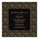 Vintage Damask Frame Bridal Shower Invitations