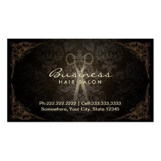 Vintage Damask Hair Stylist Salon Appointment Business Card