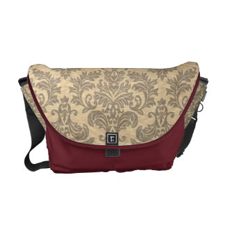 Vintage Damask Messenger Bag