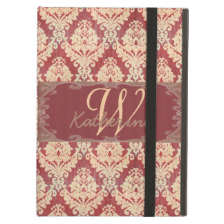 Vintage Damask Monogram Cover For iPad Air