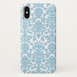 Vintage Damask Pattern - Light Blue Case-Mate iPhone Case