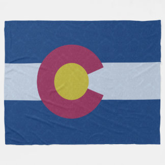 Vintage Damask Pattern State Flag of Colorado Fleece Blanket