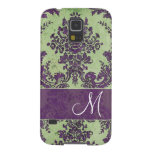 Vintage Damask Pattern with Monogram Cases For Galaxy S5