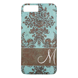 Vintage Damask Pattern with Monogram iPhone 8 Plus/7 Plus Case