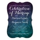 Vintage Damask Purple Aqua Ombre Wedding Invites