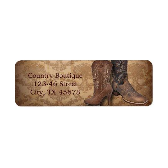 vintage damask western country cowboy