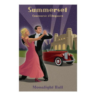 Vintage Dance and Car Show Poster