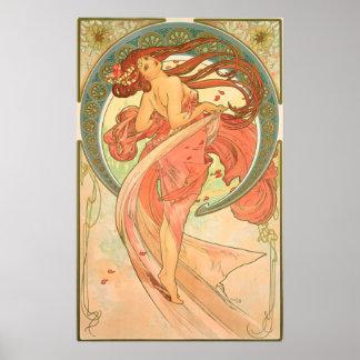 Vintage Dance by Alphonse Mucha Poster