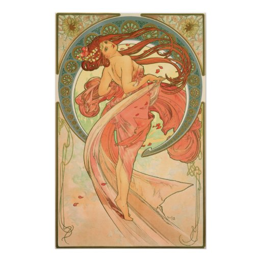 Vintage Dance by Alphonse Mucha Posters