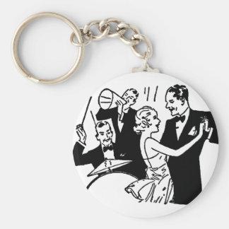 Vintage Dancing Couple Keychain