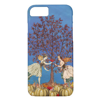 Vintage Dancing Fairy Friends Pumpkin Patch Flower iPhone 8/7 Case