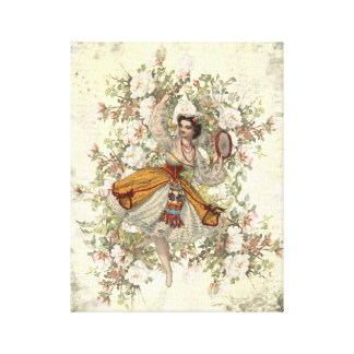 Vintage Dancing Gypsy Floral Mix and Match 11x14 Canvas Print