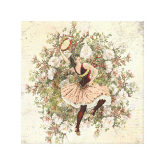 Vintage Dancing Gypsy Floral Mix and Match 12x12 Canvas Print