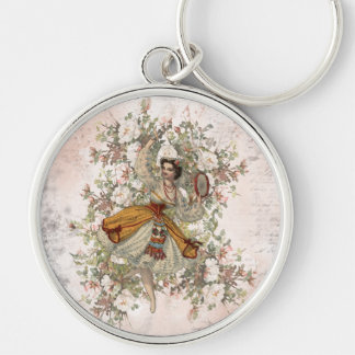 Vintage Dancing Gypsy Floral Mix and Match Keychain