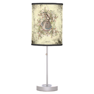 Vintage Dancing Gypsy Floral Mix and Match Table Lamp