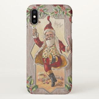 Vintage Dancing Santa Christmas iPhone X Case