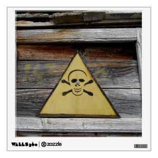 Vintage Danger Sign On Rustic Wood Wall Decal