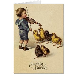 Vintage Danish Glaedelig Paaske Easter Card