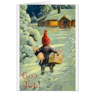 Vintage Danish / Norwegian God Jul Christmas Card