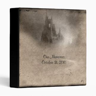 Vintage Dark Castle Gothic Wedding Photo Album 3 Ring Binder