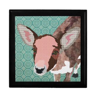 Vintage Darling Deer Turqoise Gift  Box Gift Box