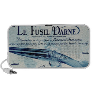 Vintage Darne Shotgun Portable Speakers (Blue)