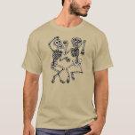 Vintage Day of the Dead Dancing Skeletons T-Shirt