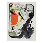 Vintage De Toulouse Lautrec French can-can Poster