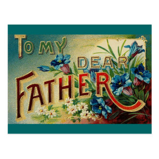 Vintage Dear Father Postcard