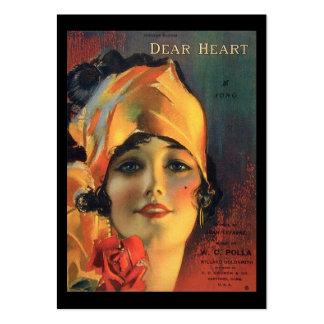 Vintage Dear Heart Gift Tag Business Card