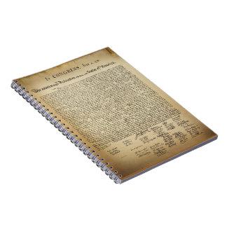Vintage Declaration of Independence Notebooks